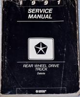 1991 Service Manual Rear Wheel Drive Truck Dakota