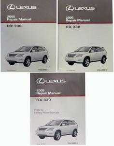 2005 lexus rx330 factory service manual set original rx 330 shop rh factoryrepairmanuals com lexus rx 350 owners manual 2010 lexus rx 350 repair manual pdf