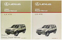 2000 Lexus LX470 Original Factory Shop Service Repair Manual 2 Volume Set LX 470