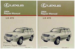 2004 lexus lx470 original factory shop service repair manual 2 rh factoryrepairmanuals com lexus lx 470 owners manual pdf lexus lx470 workshop manual
