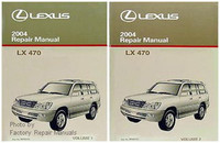 2004 Lexus LX470 Original Factory Shop Service Repair Manual 2 Volume Set LX 470