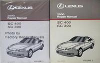 Lexus 2000 Repair Manual SC 400 SC 300 Volume 1, 2