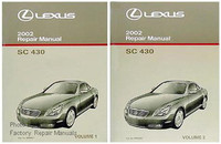 2002 Lexus SC430 Factory Service Manual Set Original Shop Repair