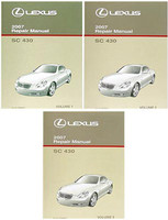 2007 Lexus SC430 Factory Service Manual Set Original Shop Repair