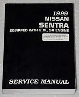 1999 NISSAN SENTRA 2.0L Original Factory Service Manual