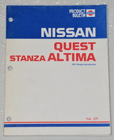 1993 NISSAN QUEST STANZA ALTIMA New Product Model Introduction Manual V40 U13 93
