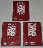 2000 Chevy Impala, Monte Carlo Factory Service Manual Set - Original Shop Repair