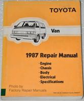 Toyota Van 1987 Repair Manual