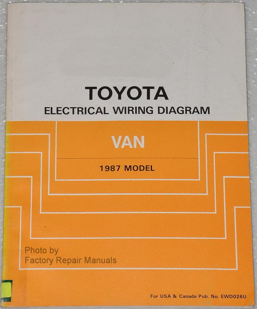 1987 toyota van electrical wiring diagrams original factory repair rh factoryrepairmanuals com Toyota Electrical Wiring Diagram toyota hiace van wiring diagram