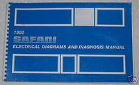 1992 GMC SAFARI VAN SLE SLT Electrical Wiring Diagrams & Diagnosis Shop Manual