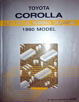 Toyota Corolla Electrical Wiring Diagrams 1990 Model