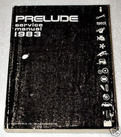 1983 HONDA PRELUDE Coupe Original Factory Dealer Shop Service Repair Manual Book