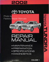 2002 Toyota Tundra Factory Shop Repair Manual Volume One
