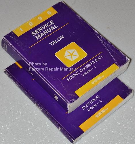 1996 eagle talon factory service manual set original chrysler shop rh factoryrepairmanuals com GPX 250 Factory Service Manual Auto Mobile Manuals