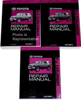 2009 Toyota FJ Cruiser Repair Manual Volume 1, 2, 3