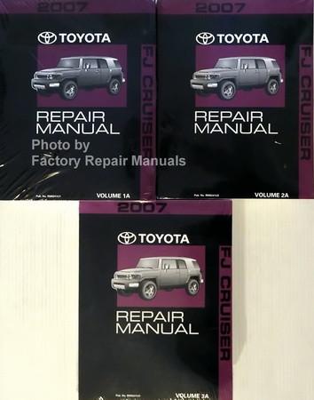 2007 toyota fj cruiser factory shop repair manual set factory rh factoryrepairmanuals com 2007 fj cruiser repair manual pdf fj cruiser repair manual 2007