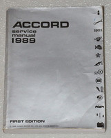 1989 Honda Accord Factory Service Manual - Original Shop Repair