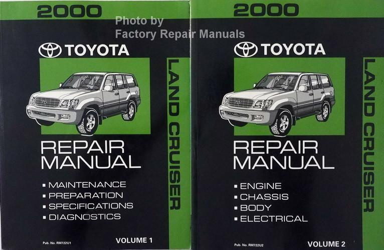 2000 toyota land cruiser factory service manual set original shop rh factoryrepairmanuals com 2000 Rolls-Royce Limousine Stetch 2000 Rolls-Royce Limousine Stetch