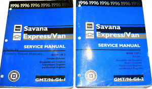 1996 chevy express van gmc savana service manual set 1500 2500 3500 rh factoryrepairmanuals com chevy express service manual pdf chevy express 1500 service manual