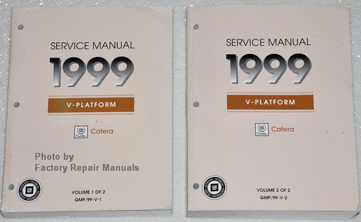 1999 cadillac catera factory service manual set original shop rh factoryrepairmanuals com 99 cadillac catera repair manual 99 cadillac catera repair manual