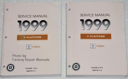 1999 cadillac catera factory service manual set original shop rh factoryrepairmanuals com 2008 Cadillac Catera 1999 Cadillac Catera Transmission