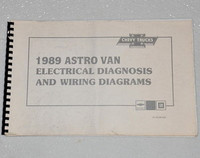 1989 CHEVY ASTRO VAN Electrical Diagnosis & Wiring Diagrams Shop Manual Mini-Van