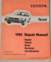 1985 Toyota Tercel Factory Service Manual Original Shop Repair