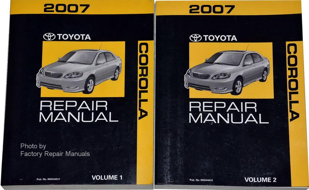2007 toyota corolla factory shop service repair manual set factory rh factoryrepairmanuals com 2007 toyota corolla fielder owners manual 2007 toyota corolla manual transmission fluid capacity