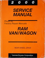 2000 Service Manual Ram Van/Wagon Rear Wheel Drive
