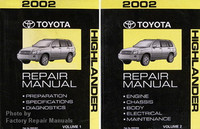 2002 Toyota Highlander Factory Service Manual Set Original Shop Repair New