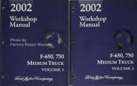 2002 Workshop Manual Ford F-650, 750 Medium Truck Volume 1, 2