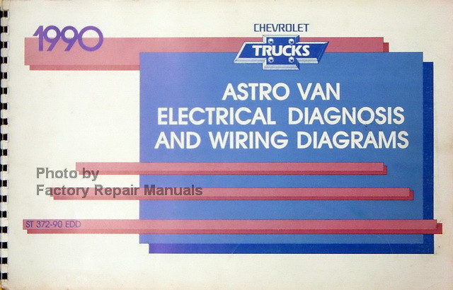 1990 chevy astro van factory electrical diagnosis wiring diagrams rh factoryrepairmanuals com Chevy Astro Van Problems 2001 Chevy Astro Wiring-Diagram