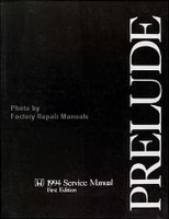 1994 Honda Prelude Factory Service Manual Original Shop Repair