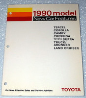 1990 Toyota New Car Features Catalog