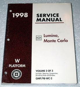 1998 chevy monte carlo ls z34 lumina ltzshop service repair manual rh factoryrepairmanuals com 1998 Chevy Monte Carlo Parts 1996 Chevy Monte Carlo