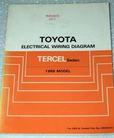 1988 TOYOTA TERCEL SEDAN Electrical Wiring Diagrams Shop Manual