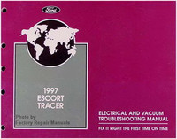 1997 Ford Escort Mercury Tracer Electrical Vacuum Troubleshooting Manual