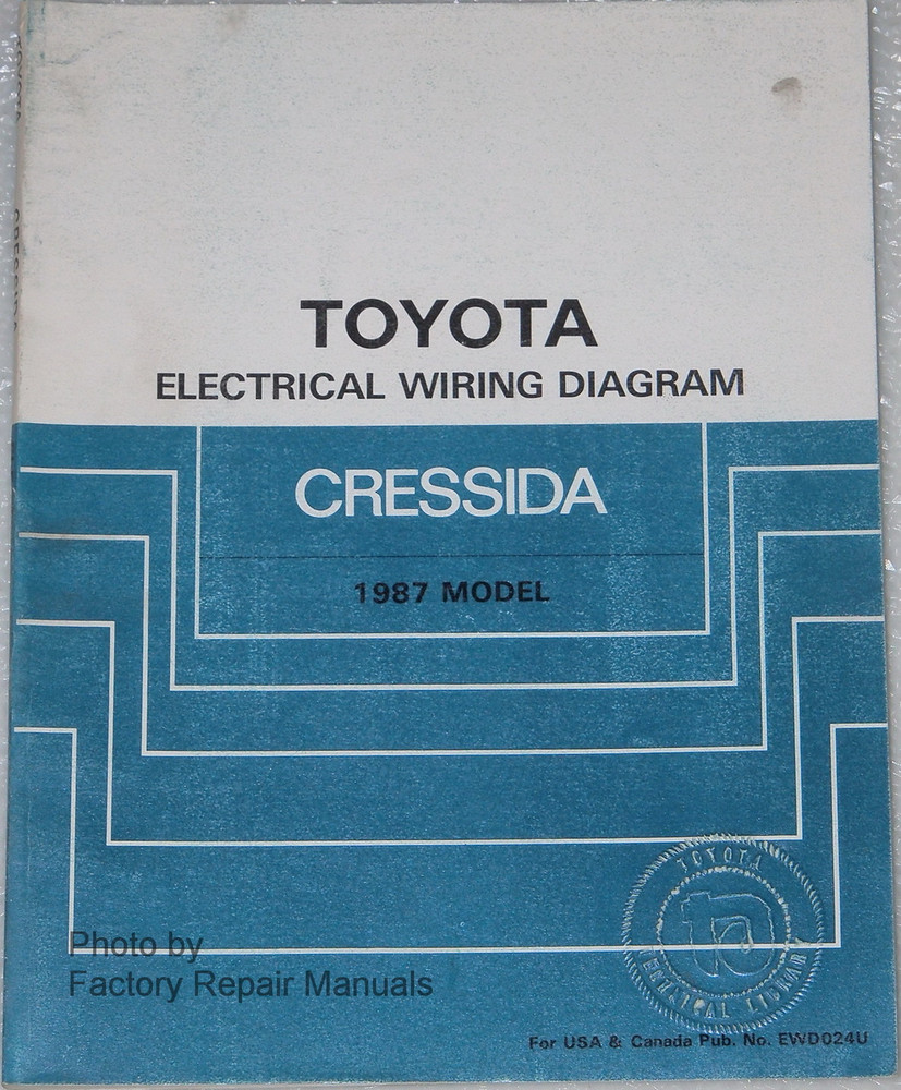 1987 Toyota Cressida Electrical Wiring Diagrams Original