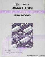 1998 Toyota Avalon Electrical Wiring Diagrams Original Factory Manual
