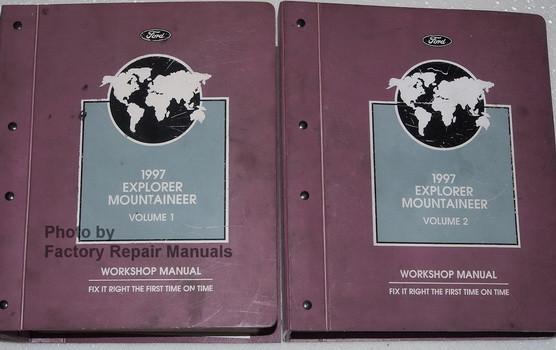 1997 ford explorer and mercury mountaineer factory shop service rh factoryrepairmanuals com 02 Mercury Mountaineer Owner's Manual 2005 Mercury Mountaineer Repair Manual