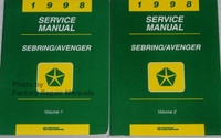1998 Service Manual Sebring/Avenger Volume 1 and 2
