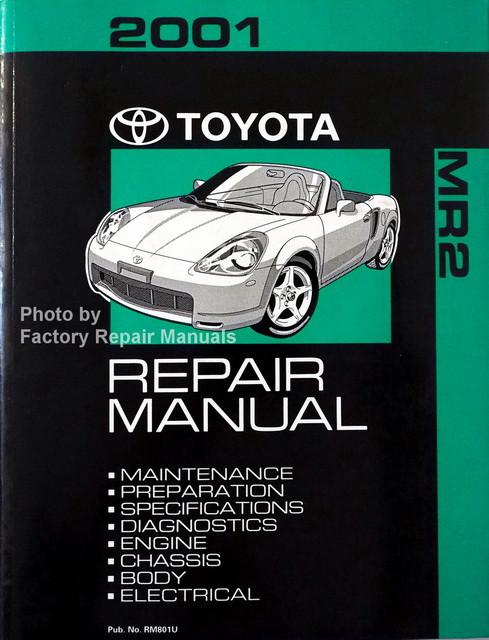 2001 Toyota Mr2 Spyder Factory Service Manual Original Shop Repair