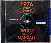 1976 Ford Truck Shop Manuals 5 Volumes on CD