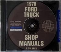 1978 Ford Truck Shop Manuals 5 Volume Set