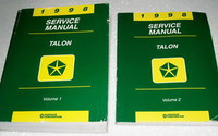 1998 Service Manual Talon Volume 1, 2