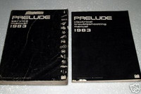 1983 HONDA PRELUDE Factory Shop Service Repair Manual Electrical Troubleshooting