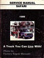 1986 GMC Safari Van Service Manual