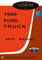 1966 Ford Truck F-100 F-250 Bronco Bus Factory Shop Service Repair Manual on CD