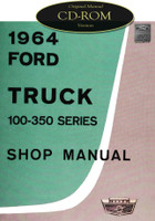 1964 Ford Truck F-100 F-250 F-350 P-100 Factory Shop Service Repair Manual on CD