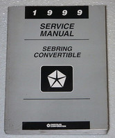 1999 Chrysler Sebring Convertible Factory Service Manual - Original Shop Repair